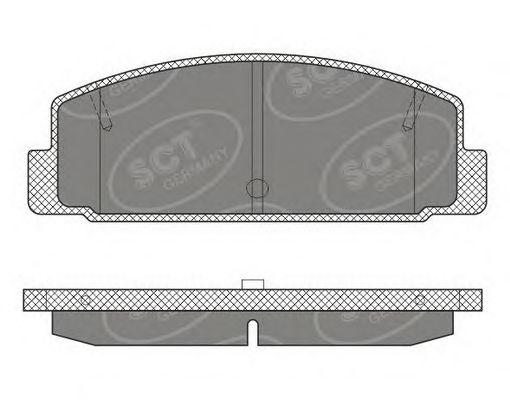 SCT Germany SP 611 PR - Brake Pad Set, disc brake