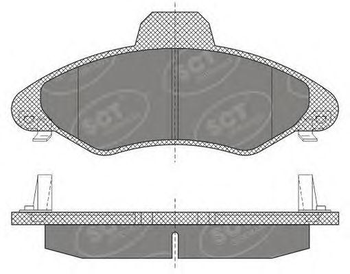 SCT Germany SP 614 PR - Bromsbeläggssats, skivbroms