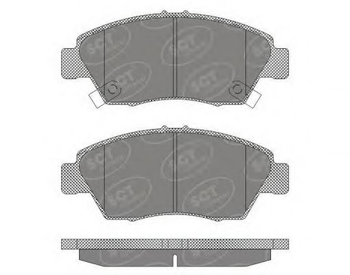 SCT Germany SP 621 PR - Brake Pad Set, disc brake