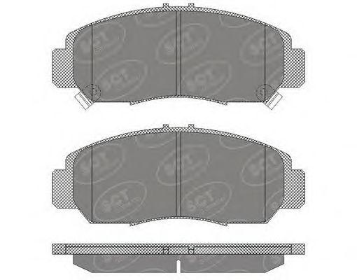 SCT Germany SP 628 PR - Brake Pad Set, disc brake