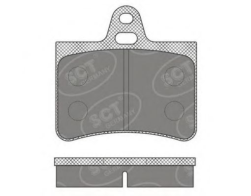 SCT Germany SP 635 PR - Brake Pad Set, disc brake