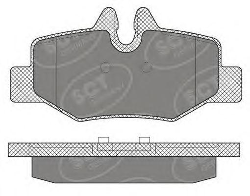SCT Germany SP 642 PR - Brake Pad Set, disc brake
