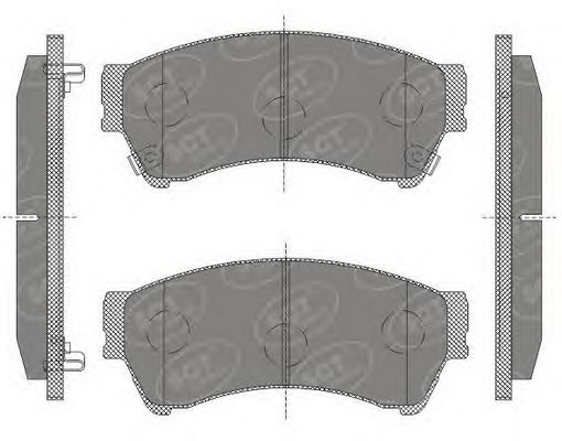 SCT Germany SP 646 PR - Brake Pad Set, disc brake