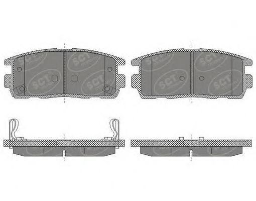 SCT Germany SP 647 PR - Brake Pad Set, disc brake
