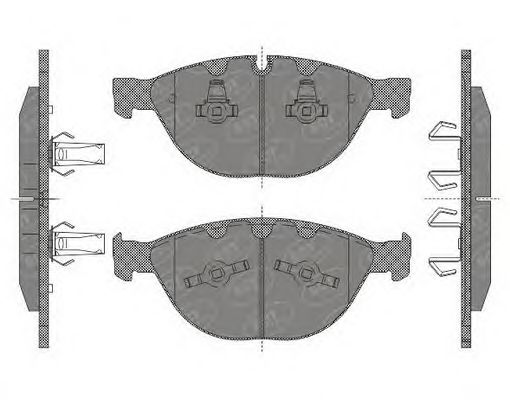 SCT Germany SP 648 PR - Brake Pad Set, disc brake