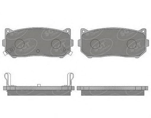 SCT Germany SP 654 PR - Brake Pad Set, disc brake