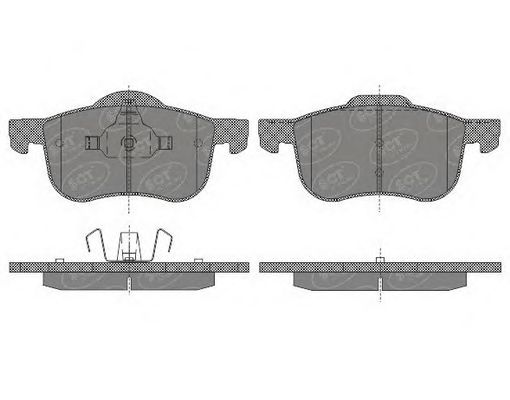 SCT Germany SP 655 PR - Brake Pad Set, disc brake