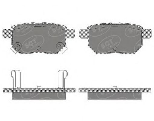 SCT Germany SP 659 PR - Brake Pad Set, disc brake