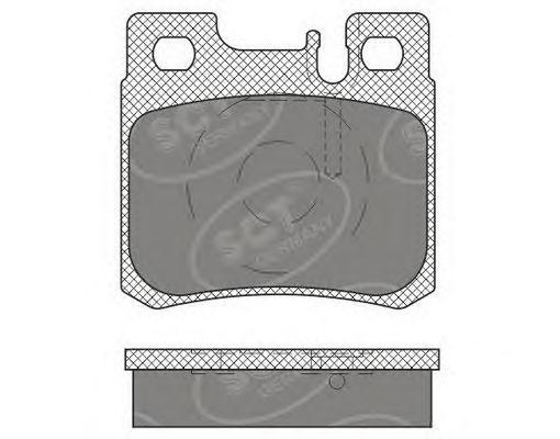 SCT Germany SP 660 PR - Bremsekloss sett