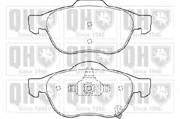 QUINTON HAZELL BP1458 - Brake Pad Set, disc brake